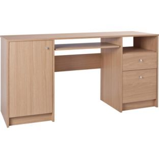 Buy malibu double pedestal office desk with filer oak effect at your online shop Argos home office furniture uk
