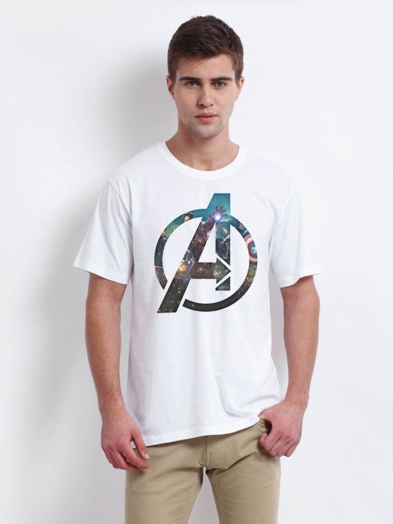 the avenger team logo men tshirt white size for men by verstay