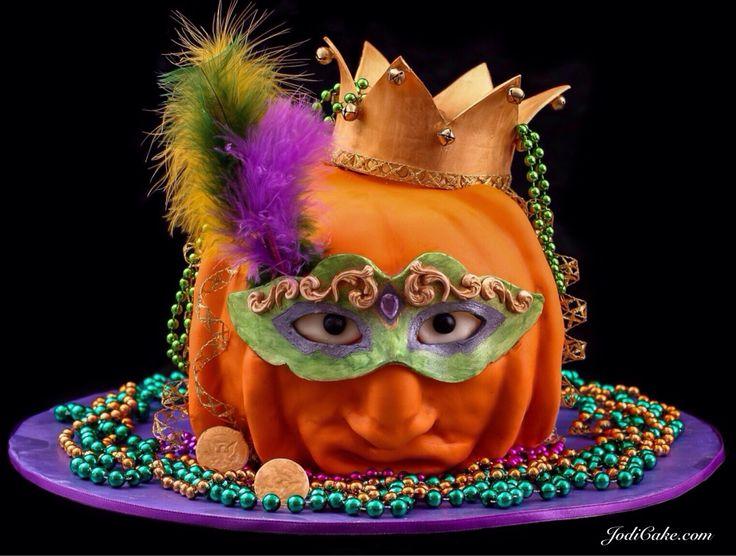 Mardi Gras Pumpkin - Fall Fair, 1st prize.