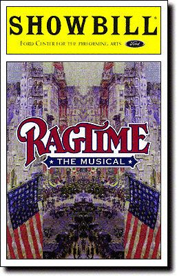 Playbill Cover for Ragtime at Ford Center for the Performing Arts  Ragtime Playbill 1998