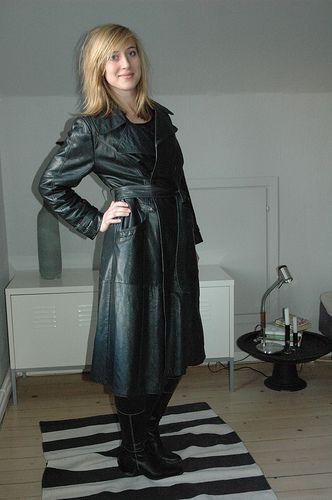 leather coat   Leather coat   Lena Leder   Flickr