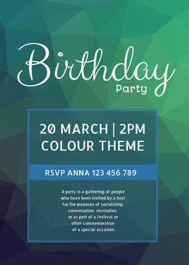 Free printable DIY birthday invitations made by you in Desygner! Perfect for a colour themed party Get the template with Desygner to create a colourful invitation perfect for your party.