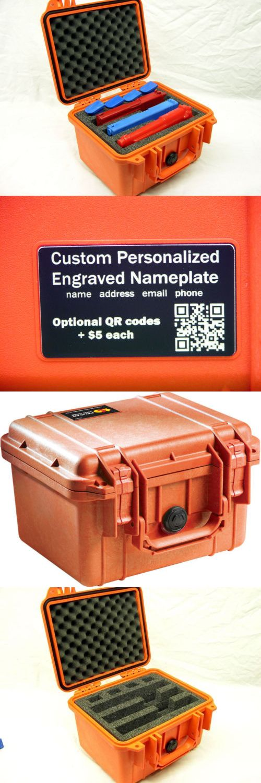 Gear Bags 29576: New Orange Pelican 1300 Custom 3 Pistol Handgun Foam Gun Travel Case + Nameplate BUY IT NOW ONLY: $99.85