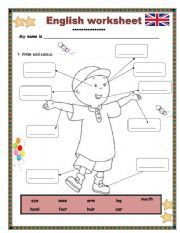English worksheet: Body