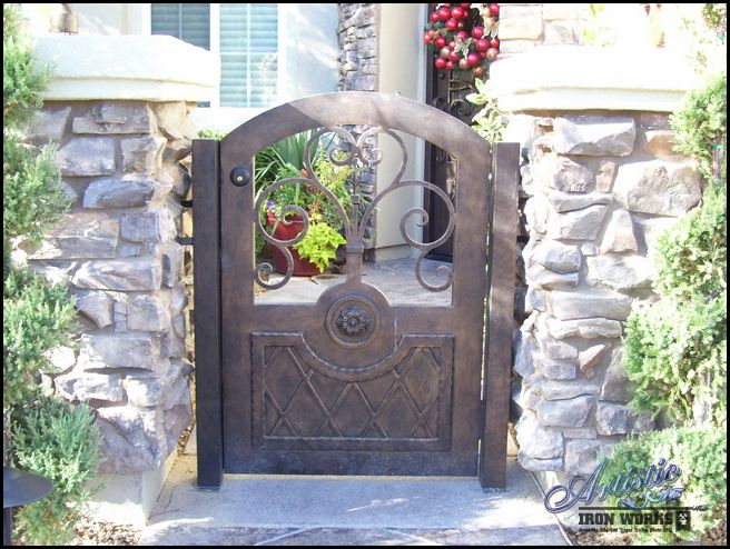 Wrought Iron Courtyard Entry Gate. Love this gate!