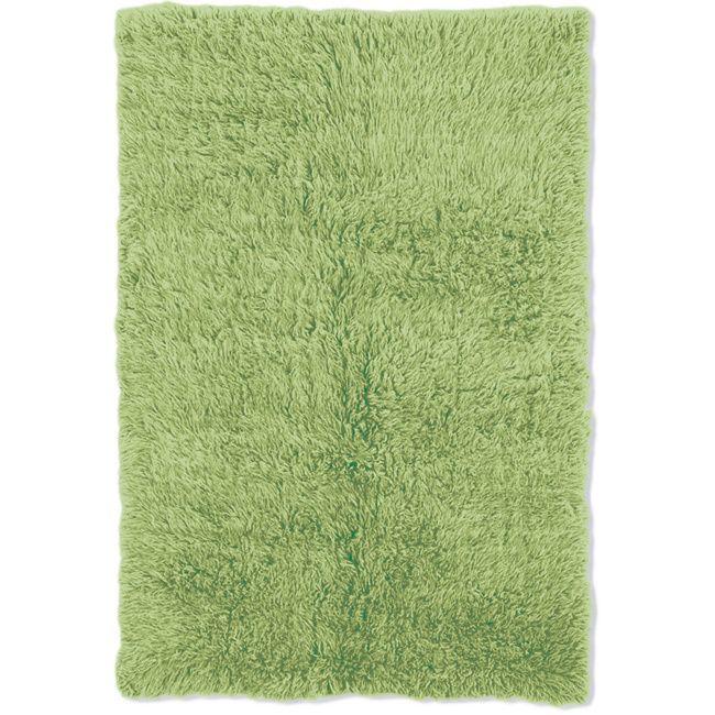 "Linon Flokati Heavy Lime Green Rug (2' x 8') (Heavy Flokati Lime Green 2'4"" X 8'6""), Size 2' x 8' (Wool, Solid)"