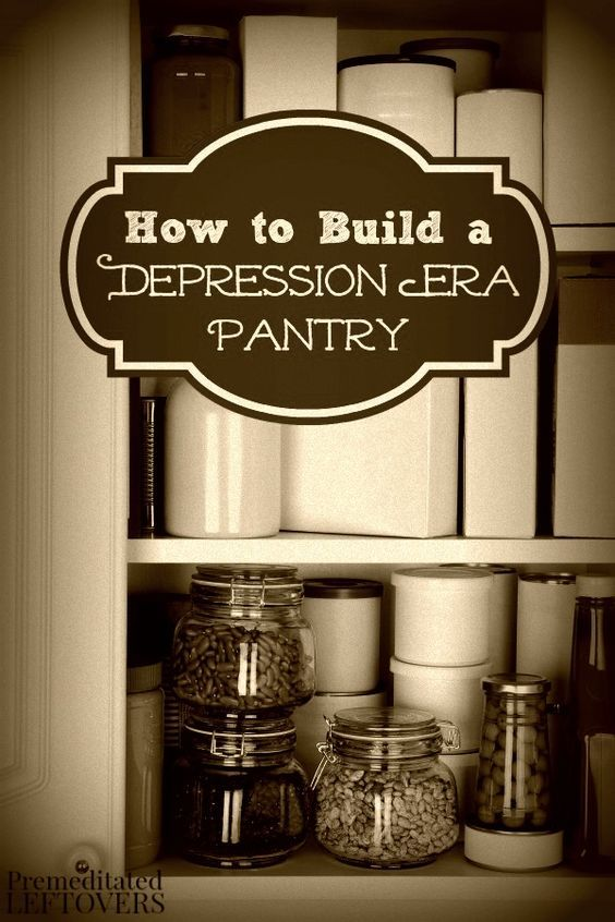 How to Build a Depression Era Pantry- Go back to basics with these frugal depression era tips. You will save money and stock your pantry with whole foods.