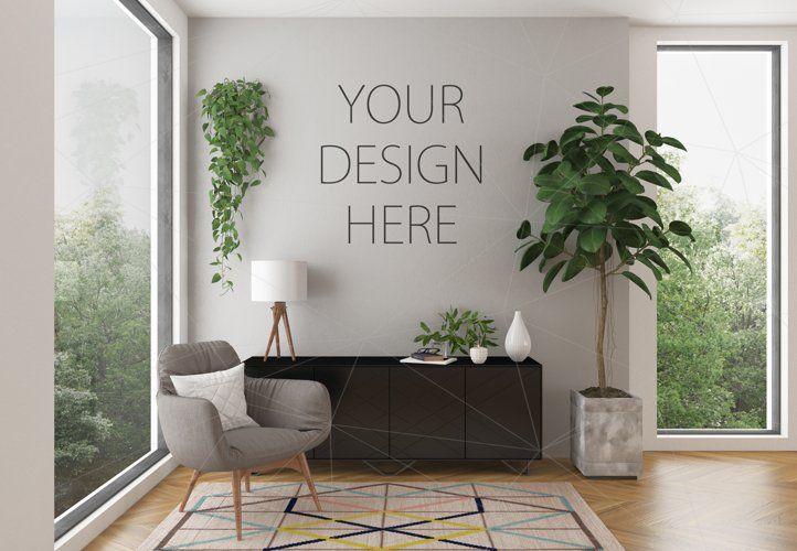Interior Mockup Bundle Blank Wall Mock Up 80186 Mockups Design Bundles In 2021 Interior Design Mockup Design
