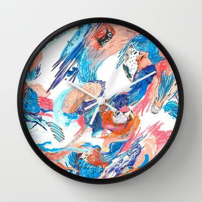 Wanderlust 1 Wall Clock by Kate Tram Nguyen - $30.00