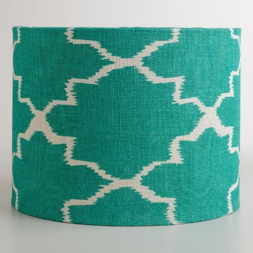 turquoise gate drum table lamp shade lamp bases hanging pendants. Black Bedroom Furniture Sets. Home Design Ideas