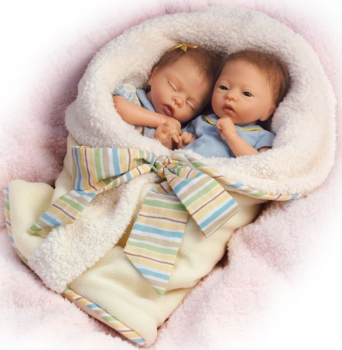 Twin Baby Doll Set