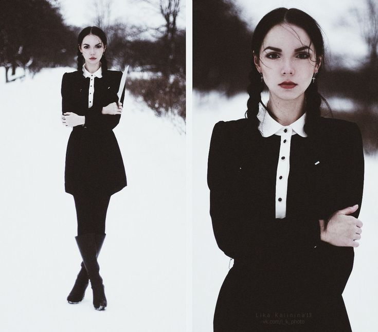 Wednesday: Fashion, Style, Halloween Costumes, Black Hair, Clothes, Dress, Goth, Wednesday Addams, White Collar