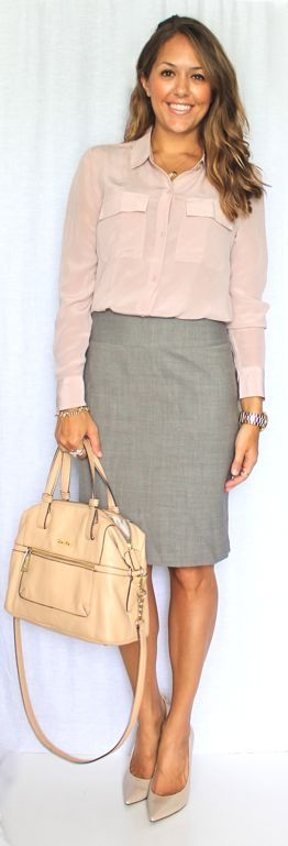 For a business casual office, keep jewelry minimal  |  Follow Rita and Phill for more tips on the unwritten rules of office fashion!  https://www.pinterest.com/ritaandphill/business-casual-for-conservative-offices/