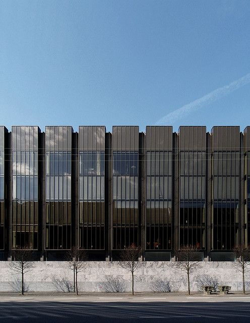 arne jacobsen, national bank, copenhagen, 1961-1978. by seier+seier, via Flickr