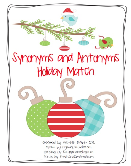 65 best synonym antonym homophones homographs school images on synonym and antonym holiday match product from no monkey business on teachersnotebook stopboris Gallery