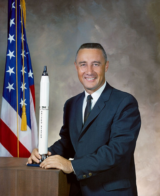 Virgil Ivan Grissom. One of the original NASA Project Mercury astronauts and a United States Air Force pilot. He was the second American to fly in space, and the first member of the NASA Astronaut Corps to fly in space twice. Grissom was killed during a pre-launch test for the Apollo 1 mission at Cape Canaveral Air Force Station (then known as Cape Kennedy), Florida. He was the first of the Mercury Seven to die.