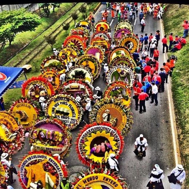 Desfile de silleteros. Martes 7 de agosto. Foto: Sara Feria V.