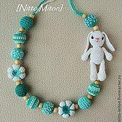 Слингобусы Зефирный мишка / Вязаные бусы - слингобусы,слинго-бусы,вязание для детей