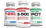 Best Muscle Building Stack-S-500,T-250, Platinum PCT, 3 Bottles, 30 Day Supply, For All Body Types, Powerful Muscle Building Supplements, PCT Included, (Powerful Ingredients Nitric Oxide, Testosterone Booster Supplements, Belly Fat Burners) Helps w/ Six Pack Abs, Building Muscle and Losing Weight (100% Money Back Guarantee)