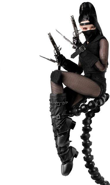 toyhaven: Pre-order Dollsfigure 1/6 scale SEXY Female Ninja Costume set for 12-inch figure