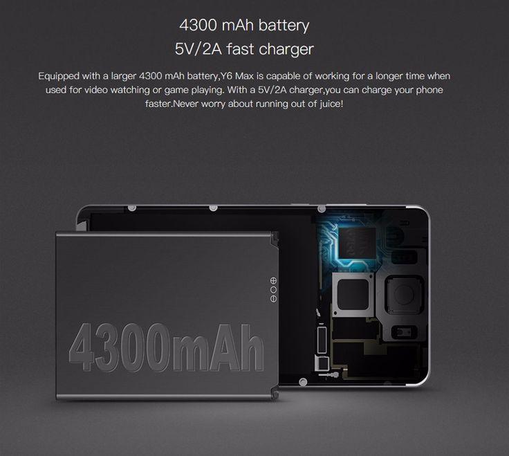 DOOGEE Y6 Max 6.5 Inch Fingerprint 3GB RAM 32GB ROM MTK6750 4G Octa Core Smartphone