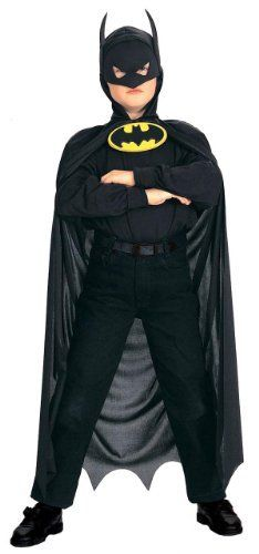 Kids Batman Hooded Costume Cape . $14.84. .x{color:#83C22D;margin:0px;font-size:12px}.y{color:#A56EBA}KIDS BATMAN HOODED COSTUME CAPEAuthentic Batman Costume(Item #BTMN30-NO)In stock, ready to ship!Includescape This is a BRAND NEW Costume in its original packaging. It is an officially licensed product (we only sell the 'real deal', no imitations). Child Batman Hooded Costume Cape features Batman logo. This Batman Hooded Cape costume fits most children. The mas...