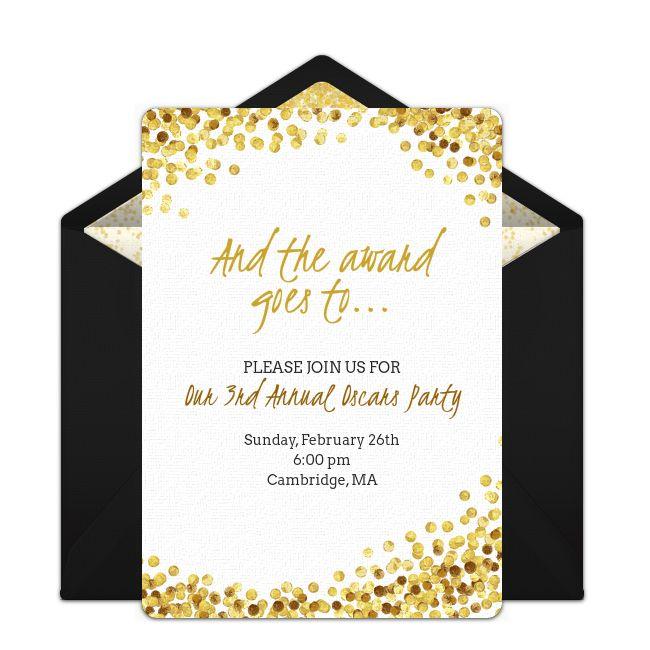 Free Awards Night Invitations. Online InvitationsHollywood PartyOscar ...