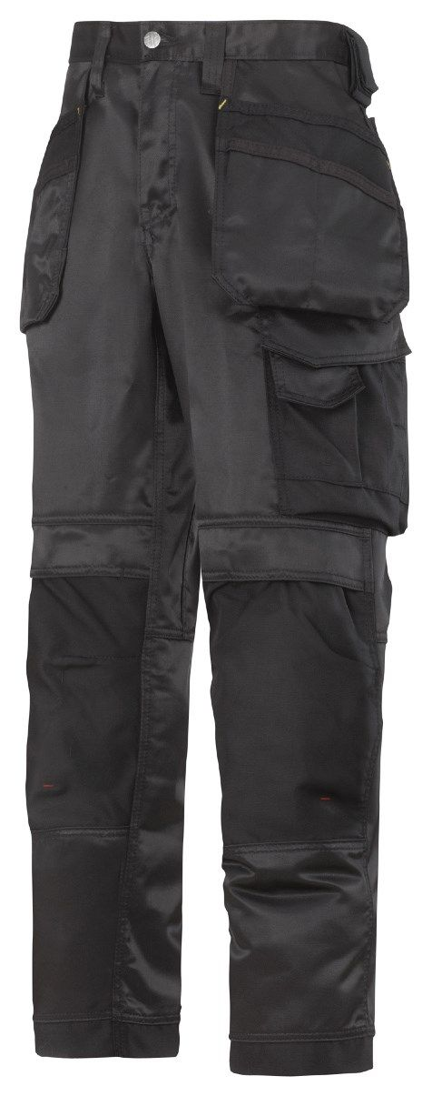 The favourite of every #craftsman! Extremely hard-wearing work trousers made in dirt repellent DuraTwill fabric. Features an advanced cut with Twisted Leg™ design, Cordura® reinforcements for extra durability and a range of pockets, including holster pockets and phone compartment. - Snickers Workwear Artnr. 3212