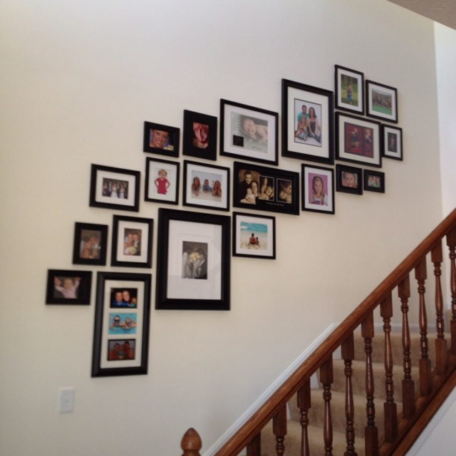 Our Stairway picture wall
