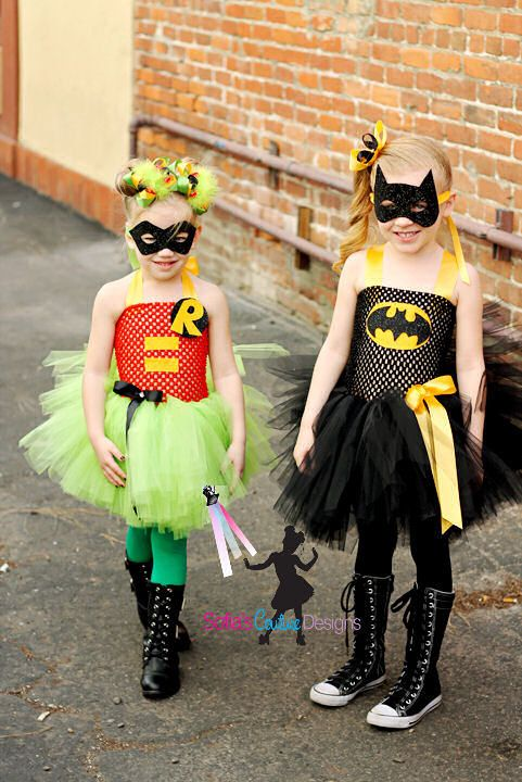 Batman girls superhero tutu dress and by SofiasCoutureDesigns