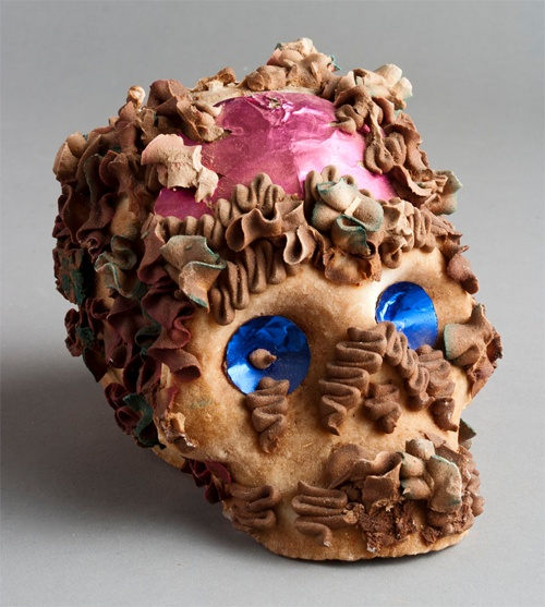 Mexican skull pastry