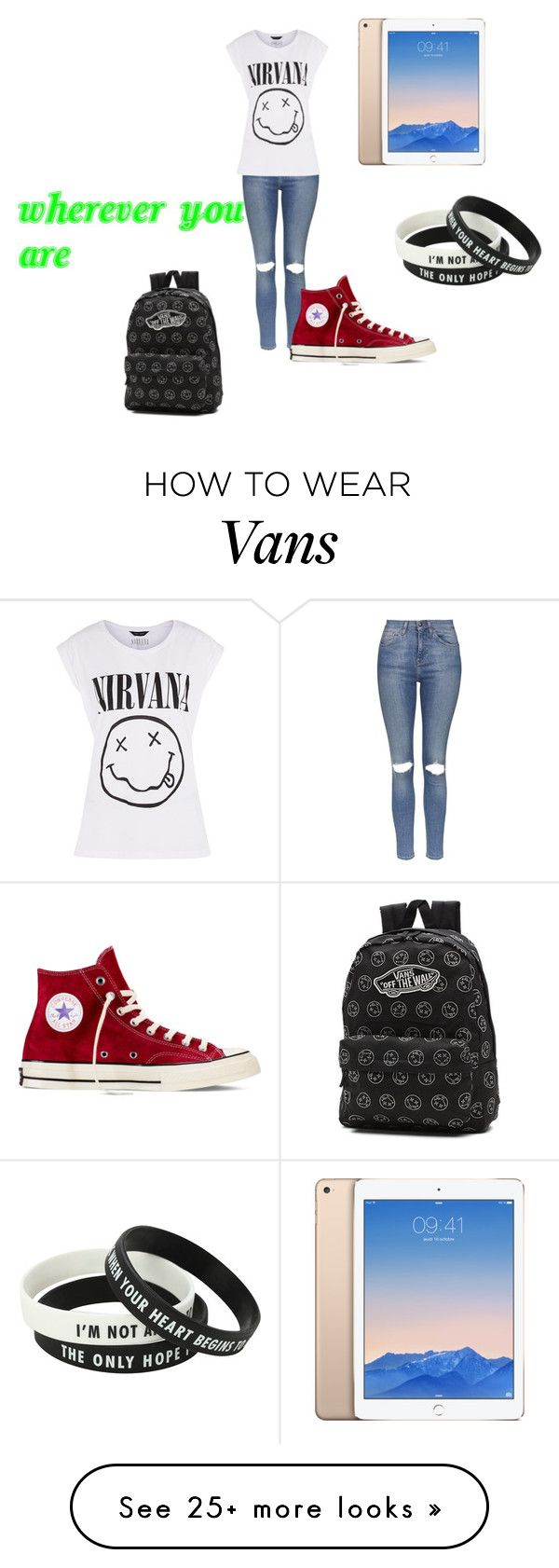 """""""wherever you are"""" by alicyafullbuster on Polyvore featuring Topshop, Converse and Vans"""