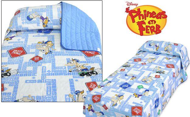 Edredón Disney azul. Phineas & Pherb. Producto oficial.