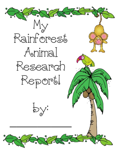 Teacher Bits and Bobs: Rainforest Animal Research Report FREEBIES!