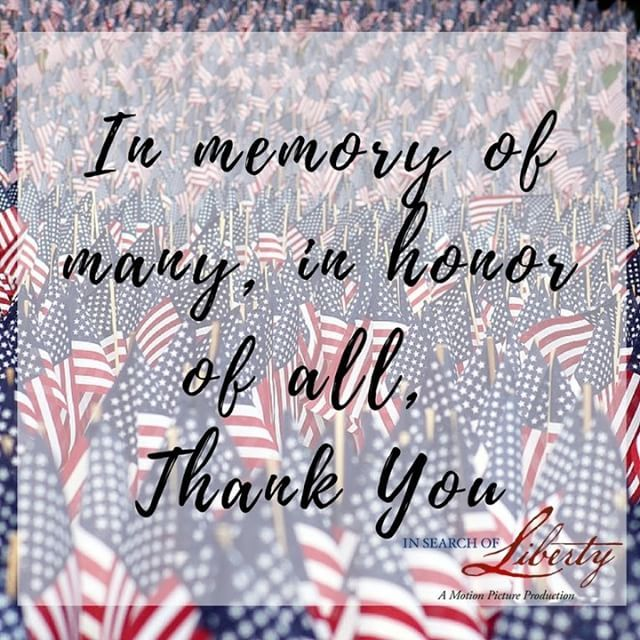 Happy Memorial Day! May you always remember the sacrifices which have been made for this country. #InSearchOfLiberty #Freedom #America…