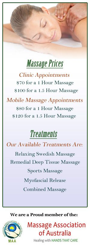 Massage Therapy in Cairns, Remedial Massage Therapy in Cairns, Mobile Massage in Cairns