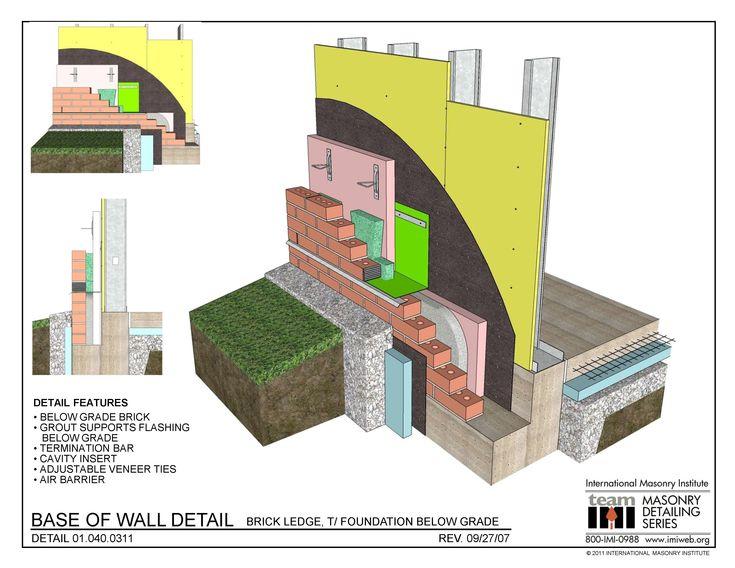 01 040 0311 Base Of Wall Detail Brick Ledge T