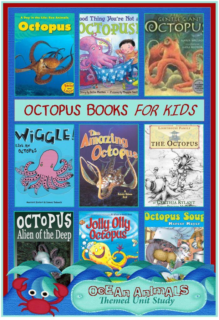 octopus books for kids 700x1024 Octopus Books for Kids {Ocean Animals Unit Study}