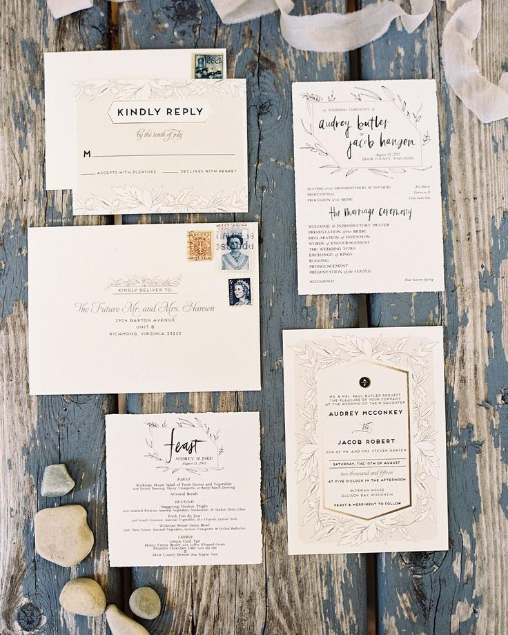 Cascade Customizable Foil pressed Wedding Invitations in