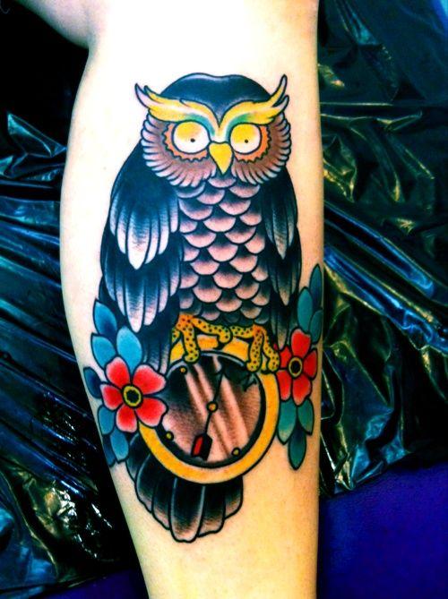 traditional owl tattoo. | Ideas for tattoos | Pinterest