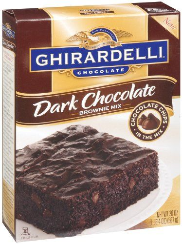Ghirardelli Dark Chocolate Brownie Mix, 20-Ounce Boxes (Pack of 4) Ghirardelli