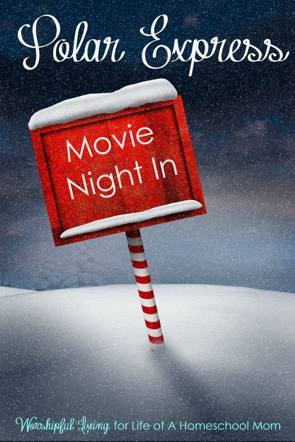 A Polar Express Movie Night is a perfect way to make family memories this Holiday Season