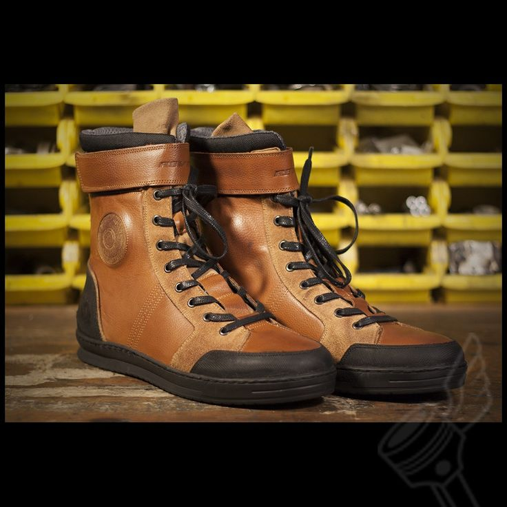 Brown REV'IT! Fairfax Motorcycle Riding Shoes