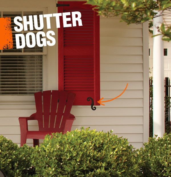 Have you ever noticed those little s-shaped doo dads that fix an exterior shutter to a home? Yes, they have a name. It's a 'shutter dog.'