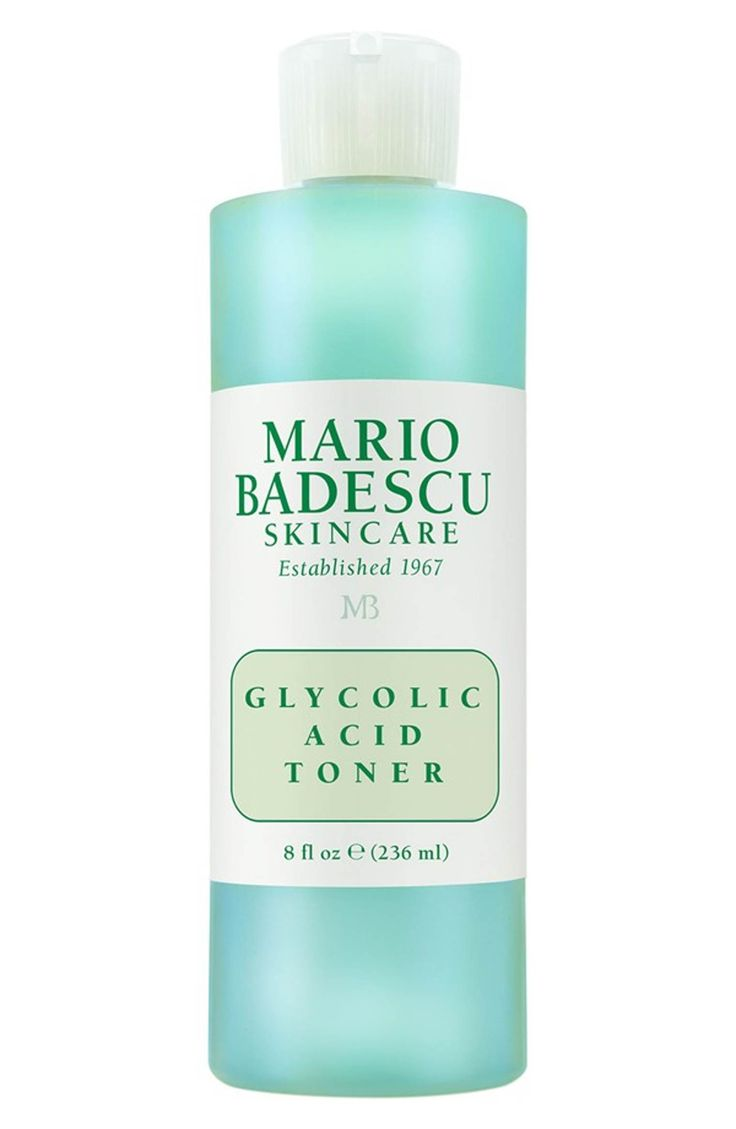 Mario Badescu Glycolic Acid Toner - using a toner will  encourage and speed up cell turnover and an exfoliating toner will wipe way the dead skin cells without using a harsh scrub