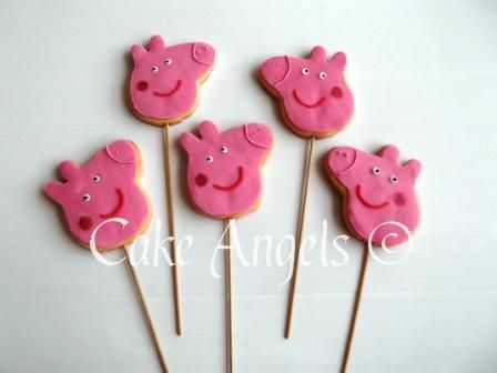 Peppa Pig Cookies from Cookie Bouquet