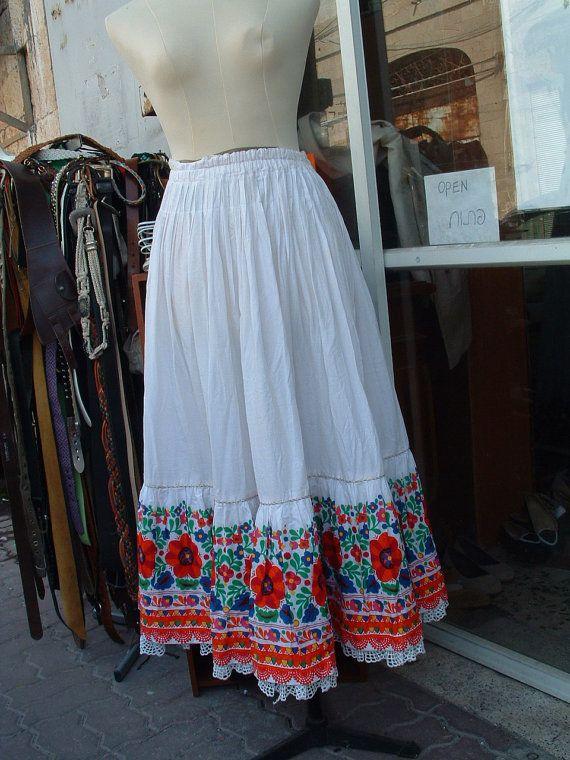 Hungarian cotton skirt circa 1960's unworn Gottex door lonibrands