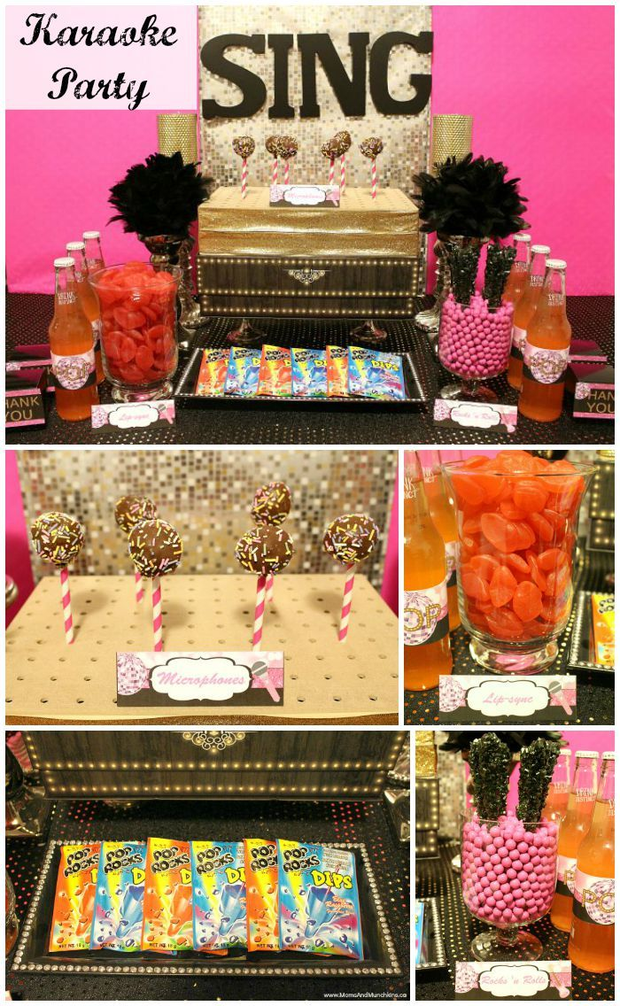 Karaoke Party Ideas - fun DIY decorating ideas, creative party food, birthday favors and more.