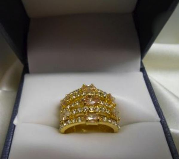 CBC-Cubic Zirconia Open Dome Ring