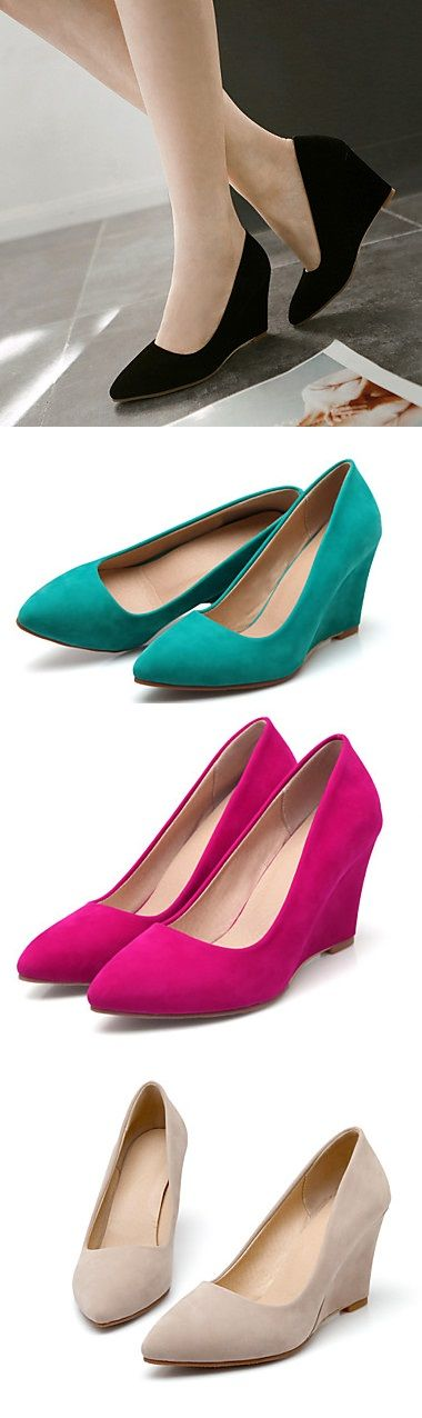 Love the fact that you can comfortably wear wedge heels for a long time! What's your prefer color? Click for more details.